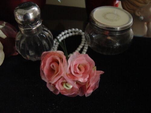 BRIGHT PINK ROSES VELVET /& ORGANZA MILLINERY FLOWERS