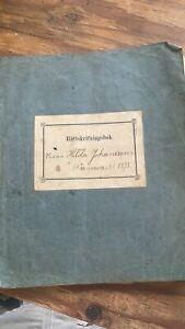 1895 Swedish Handwriting and Book  -C46