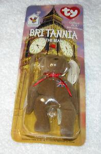 Nuovo-Ty-Teeny-Beanie-Baby-Britannia-The-Orso-1999-U-S-A