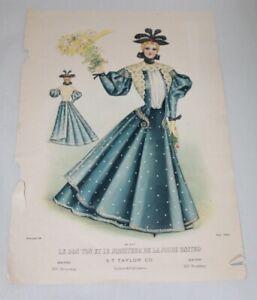 Antique Victorian Fashion Print 1900 Le Bon Ton Et Le Moniteur De La Mode United Ebay