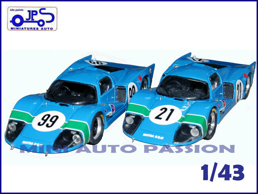 Kit JPS Prépeint - Matra 630 - Magny Cours ou Charade 67 - Ech. 1 43 - ref KP407