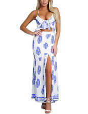 US Women's Summer Fashion Boho Long Maxi Party Beach Dress Floral Sundress NEW