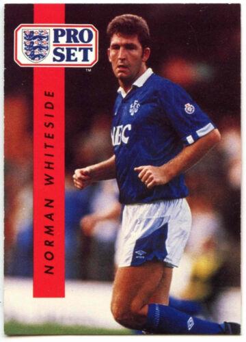 Norman Whiteside Everton #80 Pro Football Set 1990-1 commerce carte C363