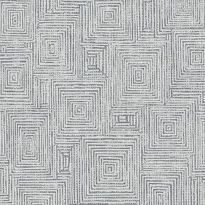 Details zu Symmetrie Geo Quadrate Tapete Grau/Silber - Rasch 310238