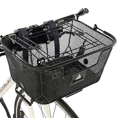 Axiom Qr Dual Function Pet Bicycle Basket Black Black 16 X 11.8 X 17.1 Bike