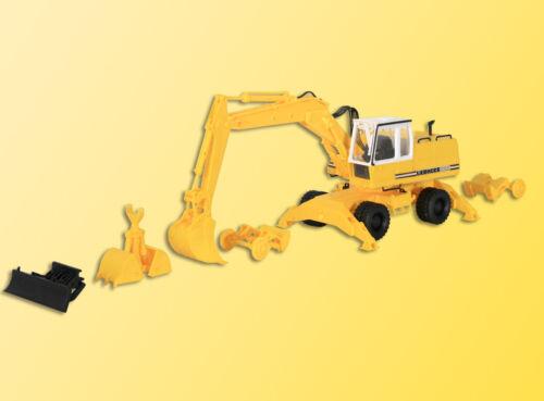 Kibri 11264 LIEBHERR Mobilbagger A922 mit Anbaugeräten H0 Bausatz