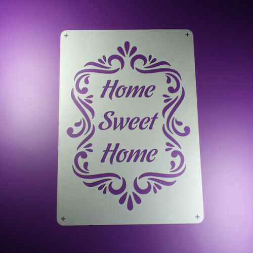 BO374 A3 Schablone Home Sweet Home Ornament Frame