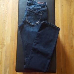 Express-Women-039-s-Barely-Boot-Lowrise-Jeans-Size-8