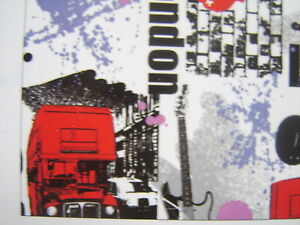 KIDS TEENAGE LONDON STICKY BACK PLASTIC VINYL FILM SELF ADHESIVE  2metr ROLL NEW