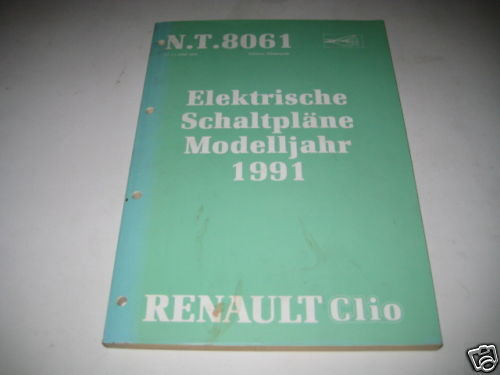 Wiring Diagrams Renault Clio  Stand 1991