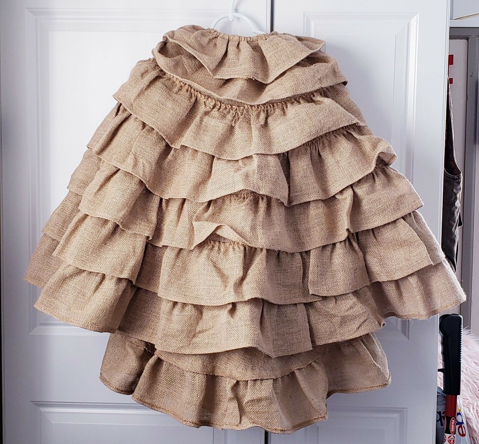 New New New Rachel Ashwell The Prairie 58  Burlap Petticoat Layerot Christmas Tree Skirt dbe934