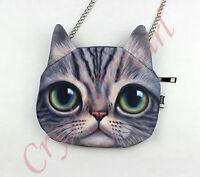 Woman Girl Chic Pet Cat Novelty Animal Cute Shoulder Cross Body Bag Cosmetic