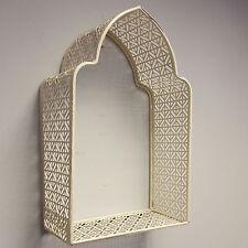 PANNA morrocan Muro Cornice Metallo Scaffale Display Storage Shabby Chic Stile Vintage