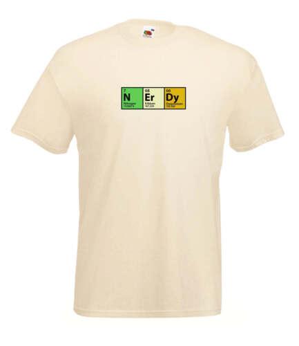 """The Big Bang Theory Inspiré tableau périodique /""""ERDY/"""" Haute Qualité connotés T Shirt"""