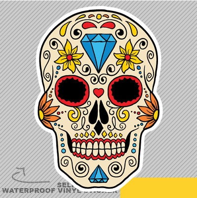 Sugar Skull Mexican Mexico Culture Vinyl Sticker Decal Window Car Van Bike 2186
