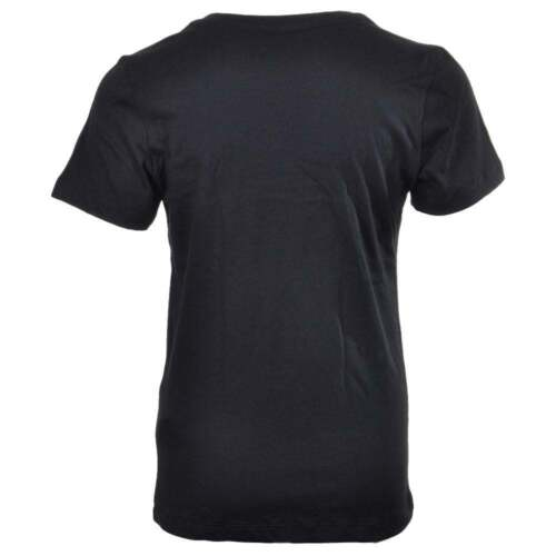 Boys 2 Pack Modern Cotton Short Sleeved Crew Neck T-Shirt Black//White