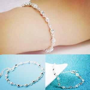 Women-Charm-elegant-Silver-Plated-Crystal-Chain-Bangle-Cuff-Bracelet-Jewelry
