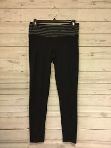 Forceful O'degree Womens Black Stretch Nylon Spandex Yoga Pants ~ Size Small Activewear Bottoms