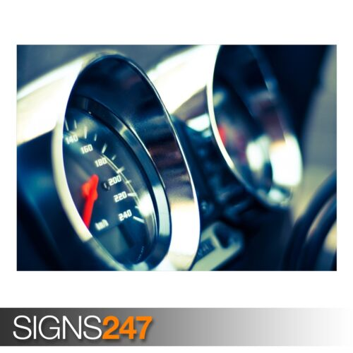 Photo Picture Poster Print Art A0 A1 A2 A3 A4 CAR POSTER SPEEDOMETER AB467