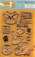 Photoplay Clear Rubber Stamp Set Roxie And Friends Cat Mouse Fish