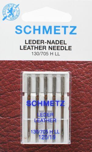 130//705 HLL NM 120 Flachkolben Sys 5 Schmetz Nähmaschinen Ledernadeln