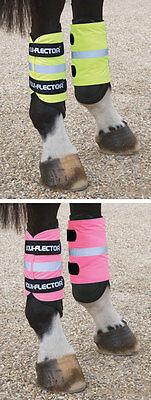 Shires Equi-Flector Hi Vis Reflective Horse Pony Leg Boots Bands Wraps (9400)