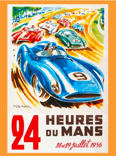 Amilcar Le Grand Sport 1927 Vintage Style Sports Car Poster 16x24