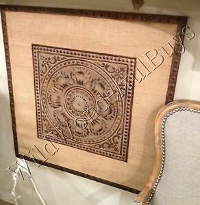 Metal Medallion Wall Art architectural embossed medallion wall decor metal art rustic