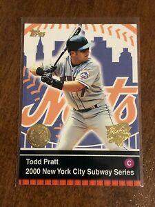 2000-World-Series-Topps-Baseball-Base-Card-4-Todd-Pratt-New-York-Mets
