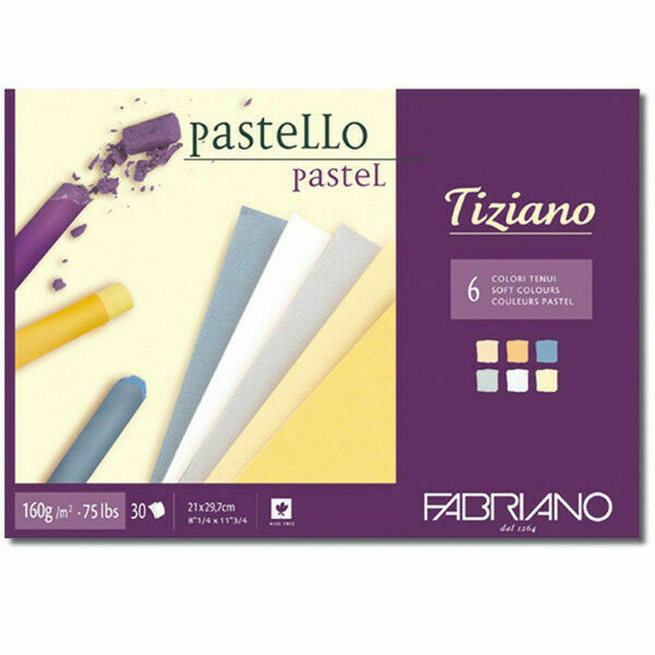 Fabriano Pastel Paper Pack of 20 Sheets 5 Colours 160 GSM 35 x 25 cm