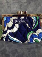 Vera Bradley mediterranean Blue Kisslock Coin Purse - Limited Edition