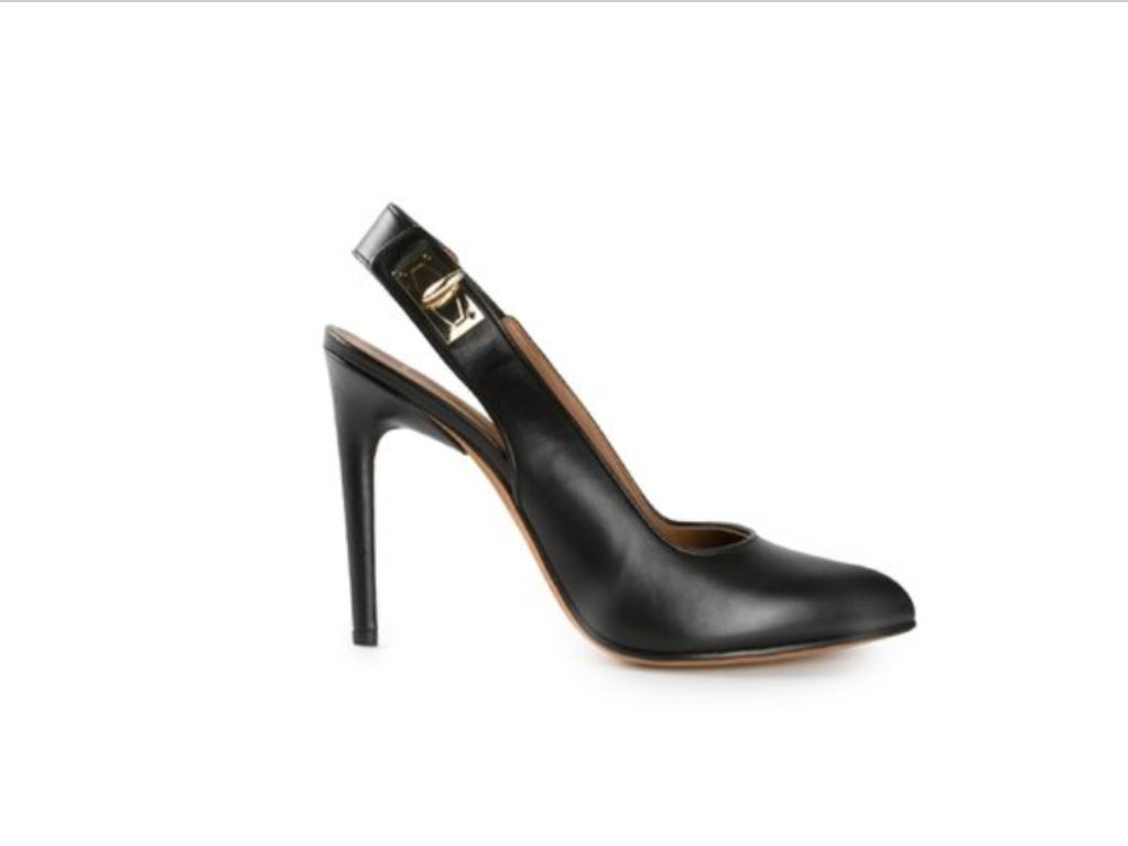 Tandsandaler av Givenchy hajsandaler har svart läderstorlek 8 1 1 1  2  varm begränsad upplaga