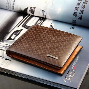 2fb593e00ac89 Das Bild wird geladen Portemonnaie-Herren-Designer-braun-Leder-Brieftasche -Wallet-Luxus-