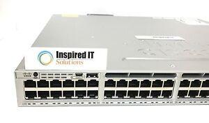 WS-C3850-48F-L-Cisco-Catalyst-3850-48-Port-Full-PoE-LAN-Base-Same-Day-Shipping