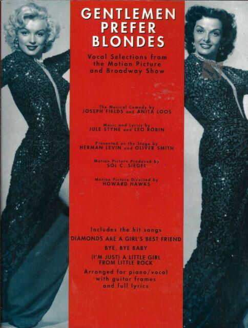 Gentlemen Prefer Blondes: Vocal Selections (1992, Sheet Music)