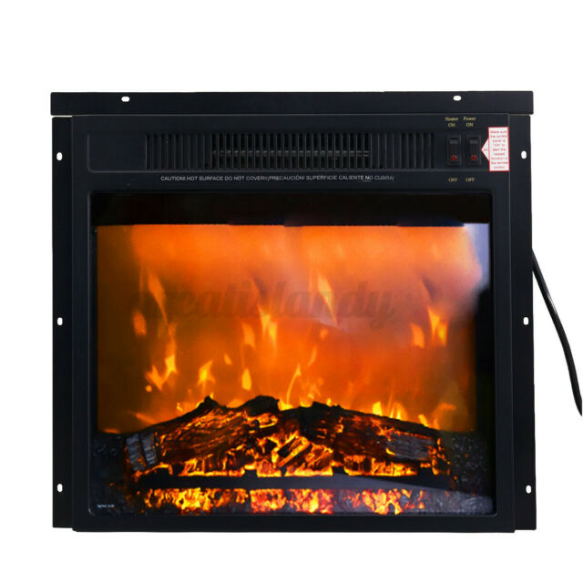 32 1500w Freestanding Full Frame Electric Fireplace Stove Heater W Flame Log For Sale Online Ebay