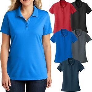 Ladies-UV30-Protect-Polo-Shirt-Moisture-Wick-Mini-Mesh-Womens-Top-XS-XL-2X-3X-4X