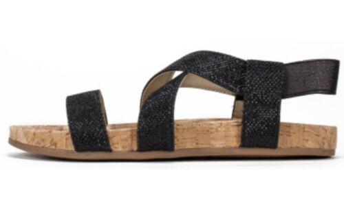 f30234ad5825 ... NEW - WHITE MOUNTAIN Women s Felix Black Glitter Sparkly Sandal - Size 7