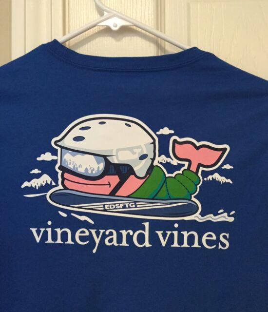 Vineyard Vines Boys Yacht Blue Send It Whale Long Sleeve Pocket T-Shirt