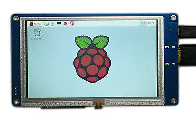 "5"" inch 800x480 LCD Touch Screen Display HDMI FOR Raspberry Pi B, B+, P2 Board"