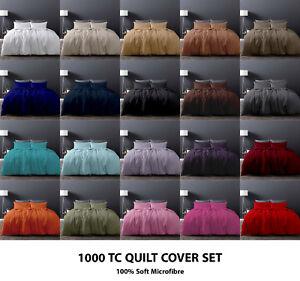 1000TC-Microfiber-Quilt-Duvet-Doona-Cover-Set-Double-Queen-Super-King-Size-c