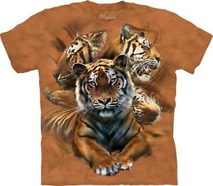 T Shirt Unisex Collage The Tiger Adult Resting Mountain 0SR0wYOq