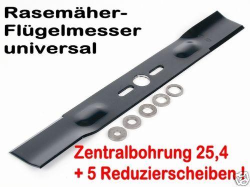 Cortacésped cuchillo L 45cm bo 25,4 Univ en mittelzentrierung con adaptador discos