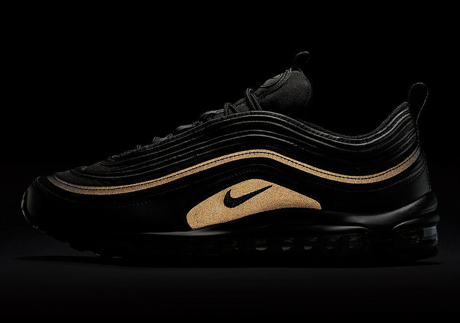 Nike Air Max 97 Black gold Reflective Retro OG PRM SE Size 11.5 AA3985-001 95 98