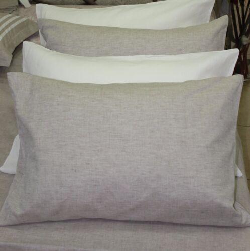LINEN PILLOWCASE Envelope Closure/King Body Pillow/ Flax PILLOW CASE COVER