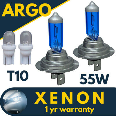 Audi A4 B6 1.8 H7 H7 501 55w Super White Xenon HID Main//Dip//Side Light Bulbs Kit