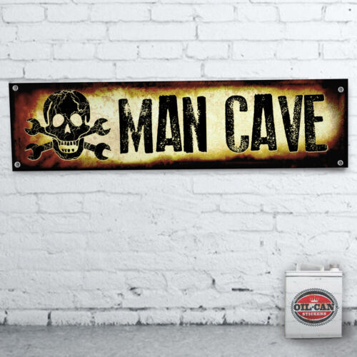 MAN CAVE  GARAGE Banner garage mancave 1200x305mm heavy duty for workshop