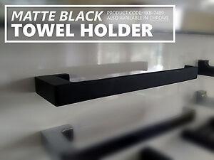 MODERN Square Matte Black Brass HAND TOWEL HOLDER Bathroom ...