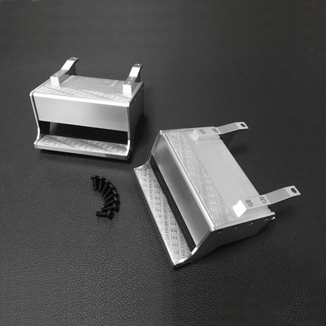 2pcs Aluminum Alloy Steps for 1//14 Model Truck Tamiya Tractor King Repair Parts for sale online