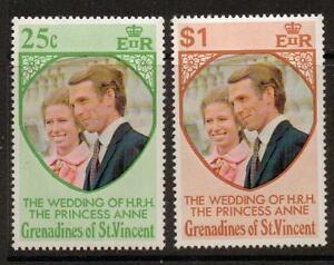 GRENADINES OF ST.VINCENT SG1/2 1973 ROYAL WEDDING MNH